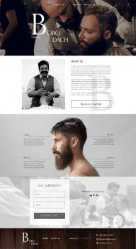 """Дизайн для перукарні """"Borodach"""""""