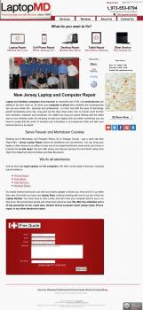 Сайт компании LaptopMD в Нью-Джерси