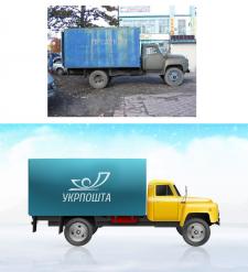 Отрисовка грузового автомобиля по фотографии