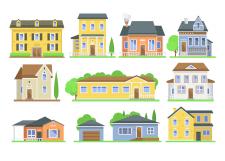 Иконки домов - цветные