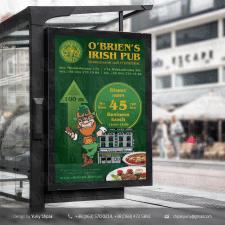 Постер для ситилайта ирландского паба