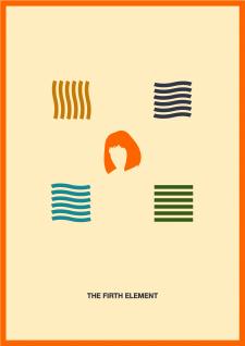 Постер к фильму в стиле минимализм