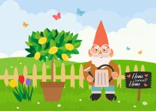 Иллюстрация на тему сад