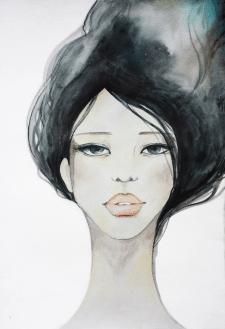 Акварель - Fashion girl