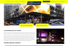 Создание сайта для производителя LED экранов