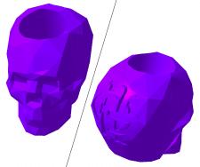 Бусина-череп с вензелем