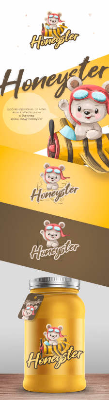 Логотип + персонаж Honeyster