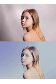 Цветокоррекция , ретушь , смена фона