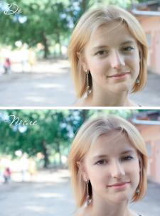 Ретушь лица: удаление дефектов кожи
