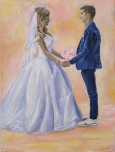 Свадьба картина маслом