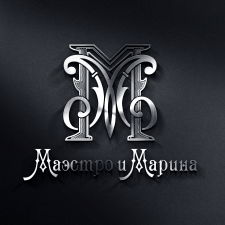 "Логотип-монограмма для дуэта ""Маэстро и Марина"""