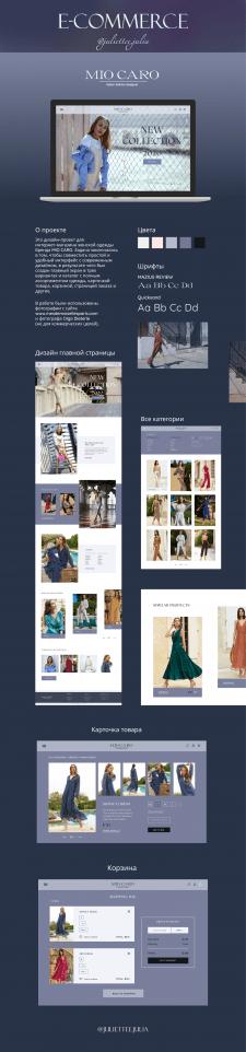 E-commerce MIO CARO (Design of online shop)