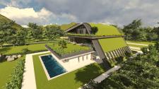 Проект жилого дома с выходом на крышу