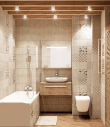 Ванная в  квартире в скандинавском стиле