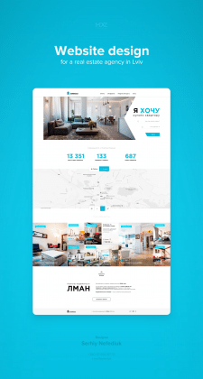 Web design for a real estate agency in Lviv