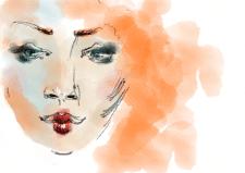 Цифровая имитация акварели, фэшн-иллюстрация