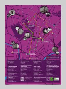 Плакат карта музеев