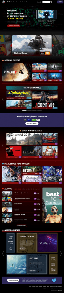 A.R.M Game shop (design)