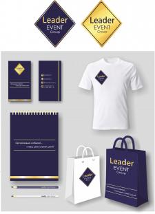 логотип и фирменный стиль для ивент-компании