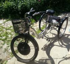 Как на взрослый трицикл поставить мотор-колесо