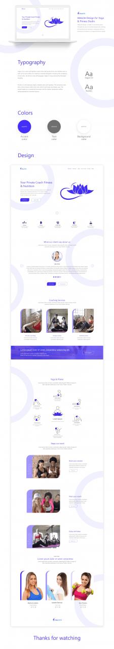 Website Design for Yoga & Fitness Studio