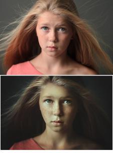 портрет, обработка 5
