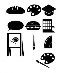 иконки разных тематик в одном стиле