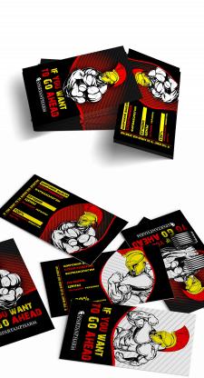Дизайн рекламной визитки и сувенирной футболки для