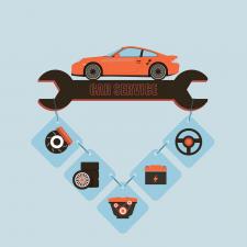 Баннер для авто сервиса