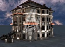 Трёхэтажный индивидуальный проект дома в Баку