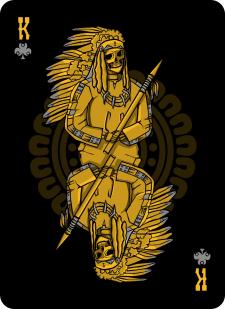 Spielkarten Indians- Skelette11