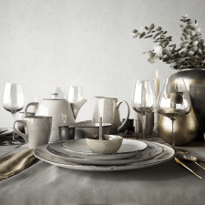 Tableware Set / Scandinavian Style / 3D Geometry