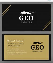 Дизайн визитки для GeoMarketing