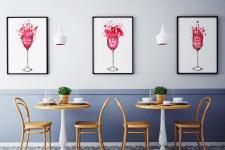 Серия плакатов для кафе