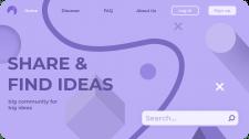 Дизайн сайта для поиска идей