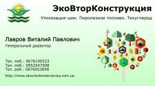 Визитная карточка директора предприятия
