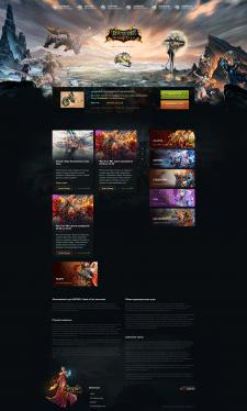 Верстка сайта для игрового сервера