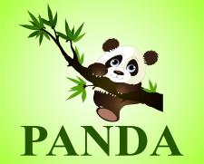 """вывеска для бутика""""Панда"""""""