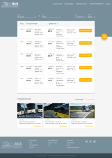 "Website for bus timetables ""BYBUS"""