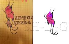 векторный логотип по эскизу