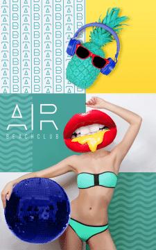"""Дизайн лого для пляжного клуба на Кипре """"AIR"""""""