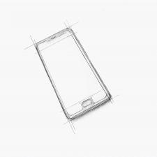 Рисунок чертёж модели смартфона
