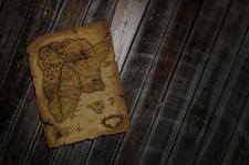 Старая карта с фоном