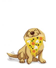 Пёс с пиццей