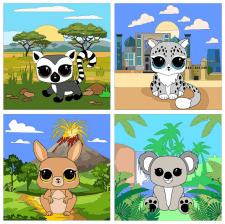 Животные для мобильного приложения