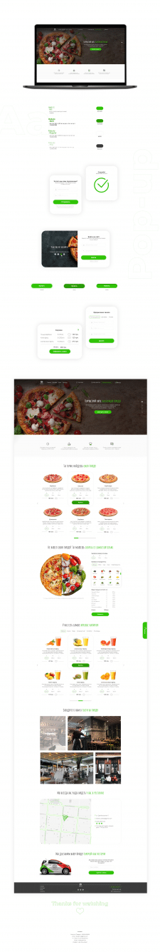 Landing page для пиццерии Italiano