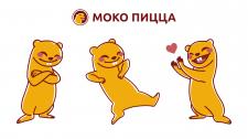 Зарисовка тіла звірка Моко відповідно до лого