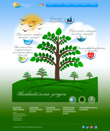 """Веб-сайт """"Возобновляемые ресурсы"""""""