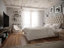 Спальня в загородный дом