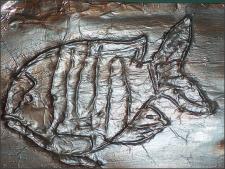 Имитация чеканки из фольги (детское рукоделие)